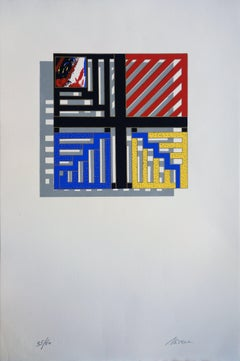 Colored Geometrical Pattern - Original handsigned Screen Print /60ex