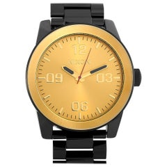 Nixon Corporal Stainless Steel Black/Gold Watch A346-010-00