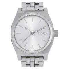 Nixon Medium Time Teller All Silver Watch A1130-1920-00