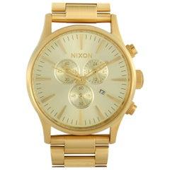 Nixon Sentry Chrono All Gold Watch A386-502-00