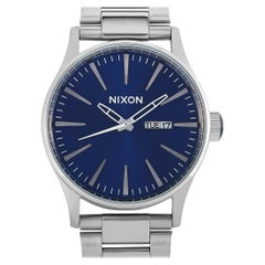 Nixon Sentry Stainless Steel Blue Dial Watch A356-1258-00