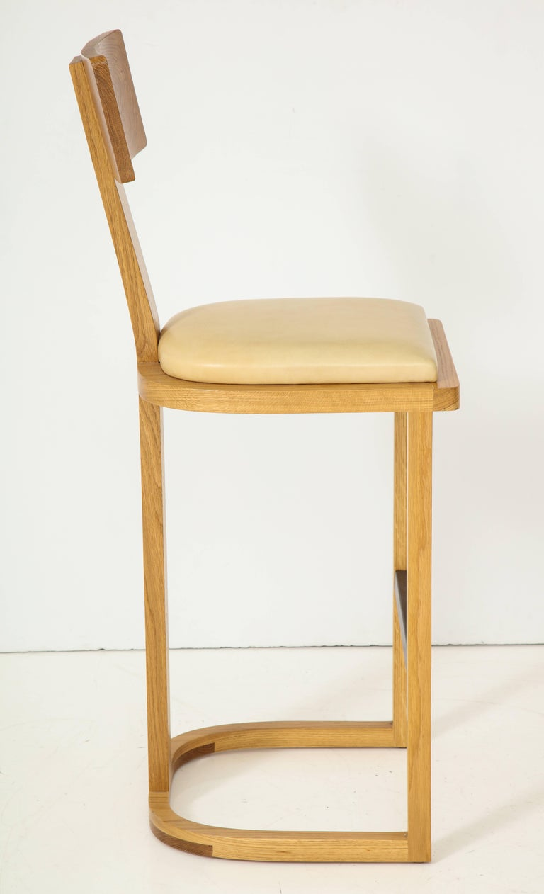 NK Collection T Bar Stool In Excellent Condition For Sale In Los Angeles, CA