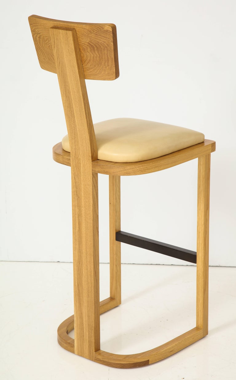 Contemporary NK Collection T Bar Stool For Sale