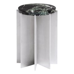 NM16 Contemporary Side Table in Stainless Steel and Marble by NM3