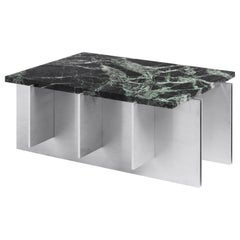 NM17 Contemporary Coffee Table in Stainless Steel and Marble by NM3
