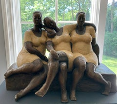 """Friends"" by Nnamdi Okonkwo Bronze Sculpture of Three Women"