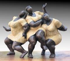 """Joy"" by Nnamdi Okonkwo Bronze Sculpture of Three Women"