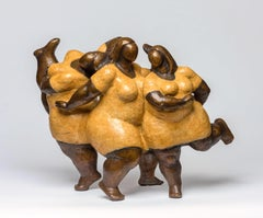 """Jubilation"" by Nnamdi Okonkwo Bronze Sculpture of Three Women"