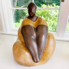"""""""Tranquility""""  Bronze Sculpture with Patina and Lacquer Finish"""