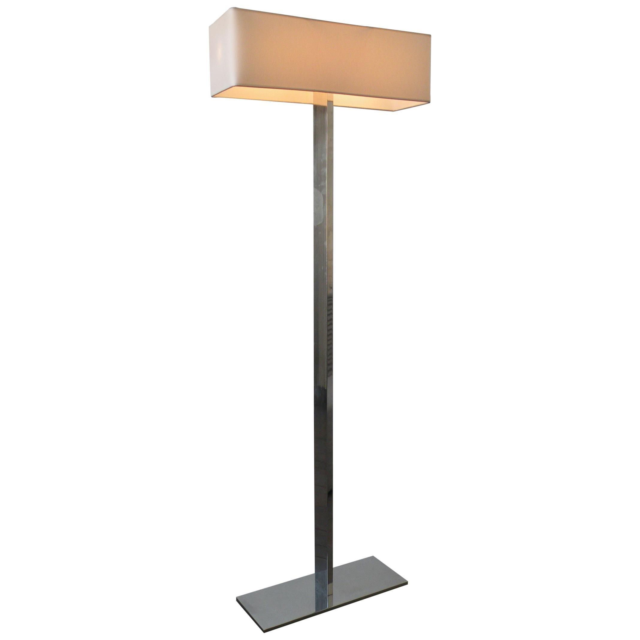 'No. 19' Floor Lamp in Polished Aluminium