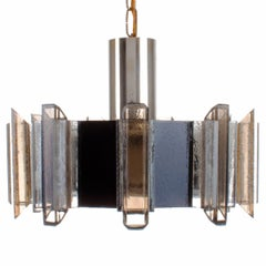 No. 2012A Danish Vintage Brown Plexiglas Pendant by Claus Bolby for CEBO in 1975