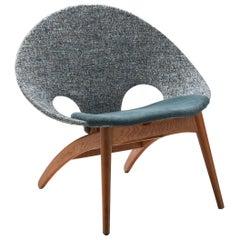 """""""No. 55"""" Lounge Chair by Arne Hovmand-Olsen for P. Jeppesen Møbelfabrik, Denmark"""