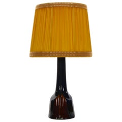 No. 940 Ceramic Table Lamp by Einar Johansen for Soholm, 1960s, Shade Included