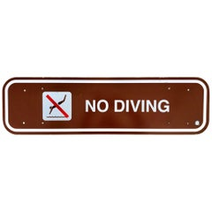 No Diving California State Park Sign