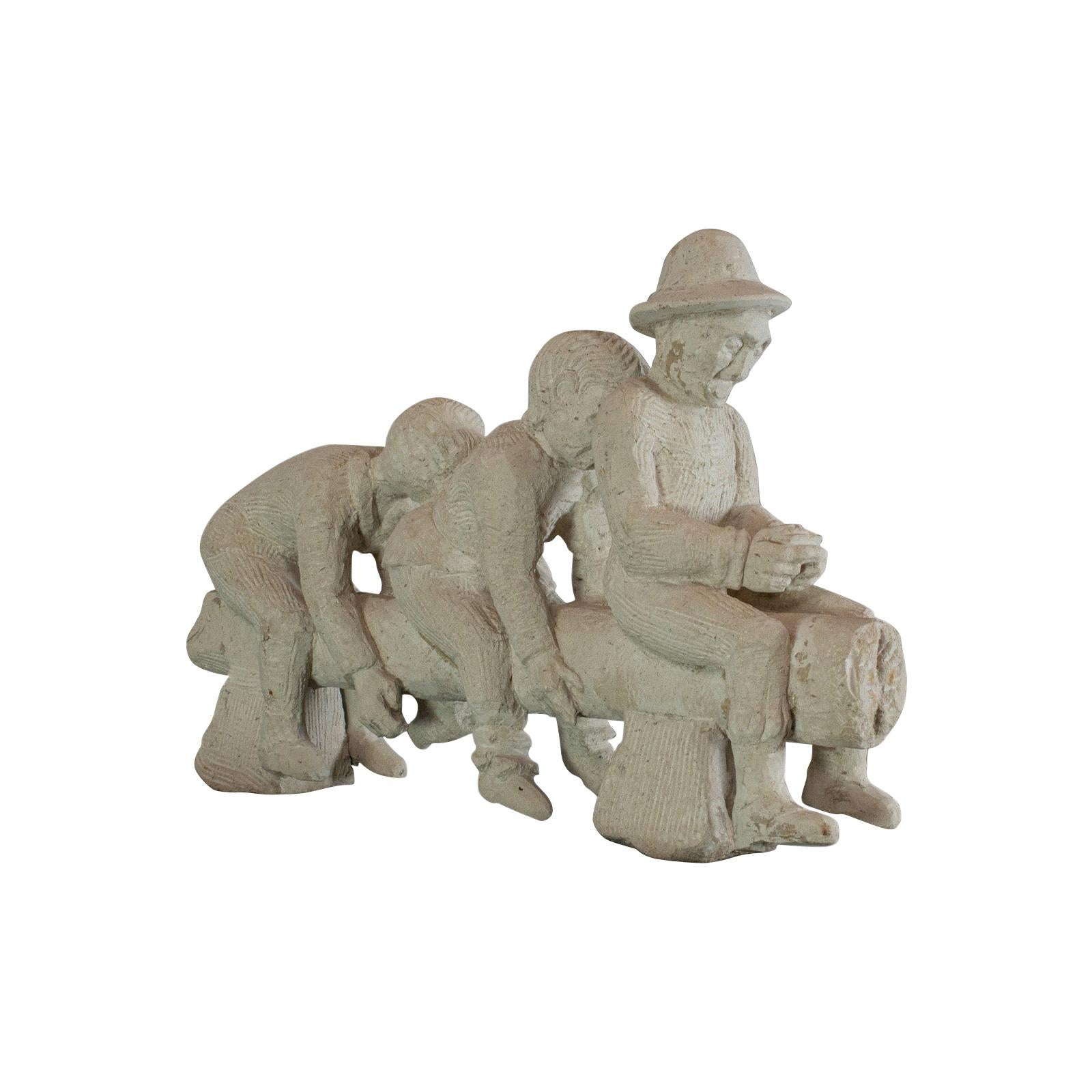 No Evil, Sculptural Artwork, Sculpture, Dominic Hurley, Portland Stone, Allegory