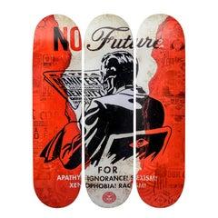 No Future Skateboard Decks by Shephard Fairey