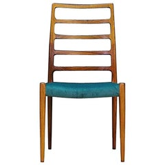 N.O Moller Chair Vintage Danish Design Green Rosewood, 1960s