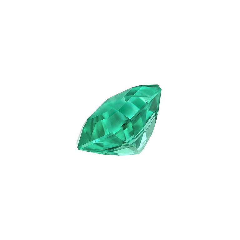 Rare and exceptional, un-enhanced - no oil, 2.14 carat Colombian Emerald gem. This square emerald-cut Emerald gemstone, is offered loose to the worlds' most discerning gem collectors. The AGL gem certificate is attached to the images for your