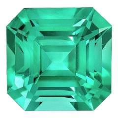 No Oil Colombian Emerald Ring Gem 2.14 Carat Untreated Asscher Cut