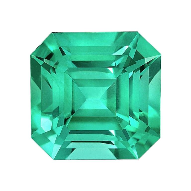 No Oil Colombian Emerald Ring Gem 2.14 Carat Untreated Loose Gemstone For Sale