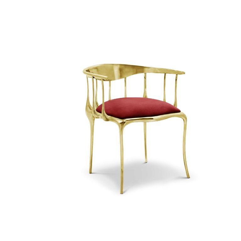Portuguese Nº11 Dining Chair in Solid Brass For Sale