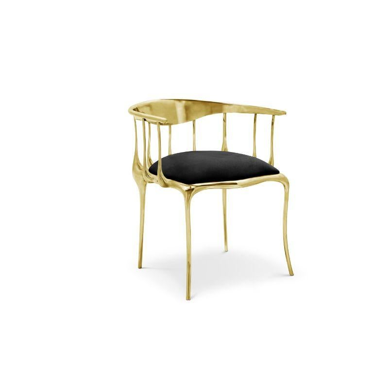 Nº11 Dining Chair in Solid Brass In New Condition For Sale In New York, NY