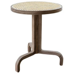 Nº123 Stool by Avoirdupois - A wood and natural woven cane three-leg stool