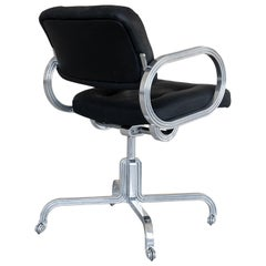 Nº129 Profession Chair by Avoirdupois - A leather and metal swivel office chair