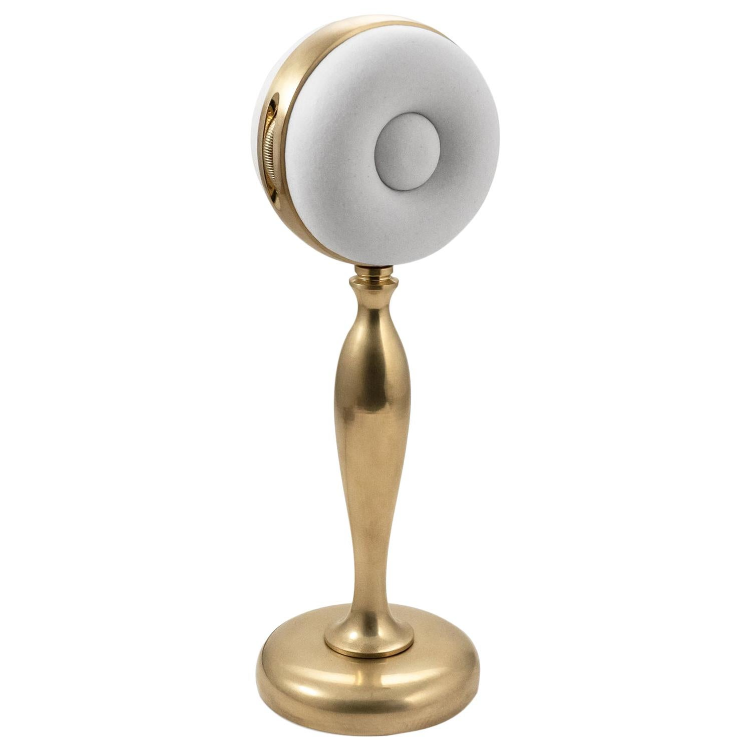 Nº156 Petite Salesman's Sample Table Lamp by Avoirdupois - Brass and Porcelain