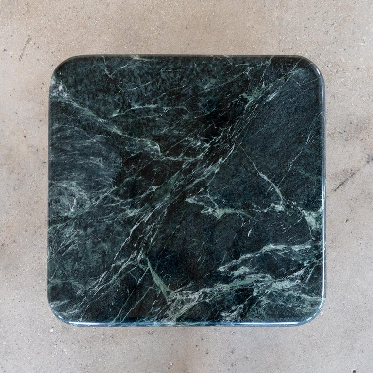 American Nº189 Side Table by Avoirdupois  - A marble and metal end table For Sale