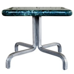 Nº189 Side Table by Avoirdupois  - A marble and metal end table