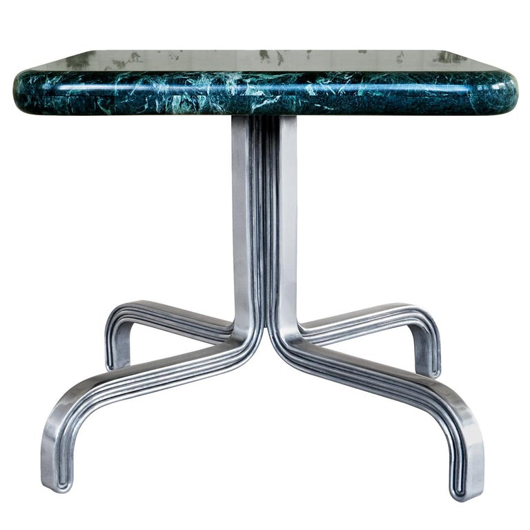 Nº189 Side Table by Avoirdupois  - A marble and metal end table For Sale