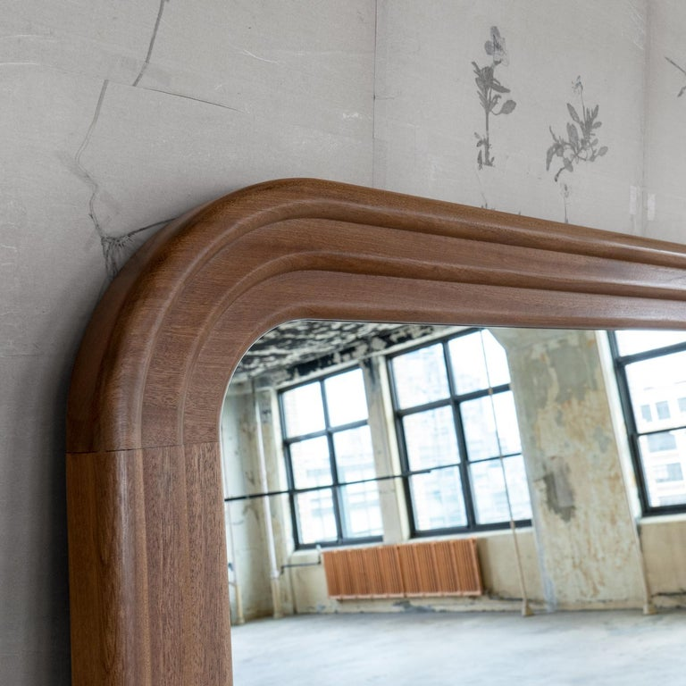 Polished Nº198 Grand Object Reflector by Avoirdupois - A wood and metal floor mirror For Sale