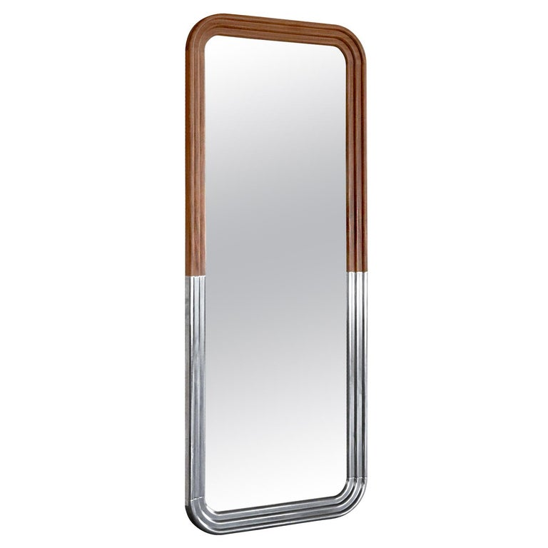 Nº198 Grand Object Reflector by Avoirdupois - A wood and metal floor mirror For Sale