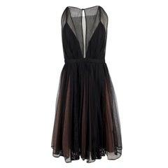 No.21 Sheer Pleated Sleeveless Lace Dress IT 44 / US 8