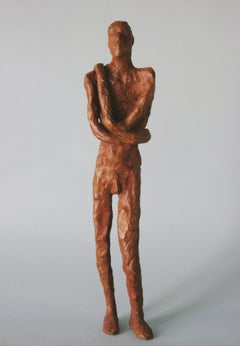 Male Figure Standing -figurative bronze by New York artist Noa Bornstein