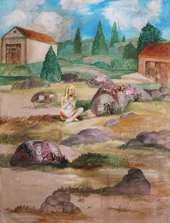 Noah Becker 'Figure in a Landscape'
