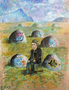Noah Becker 'Graffiti Rock Mountain'