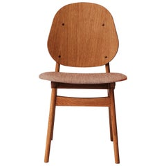 Noble Chair in Teak Oak with Upholstery, by Arne Hovmand-Olsen from Warm Nordic