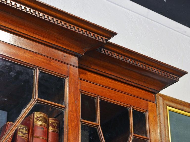 Noble Early 19th Century George III Mahogany Breakfront Secretary Bookcase 7