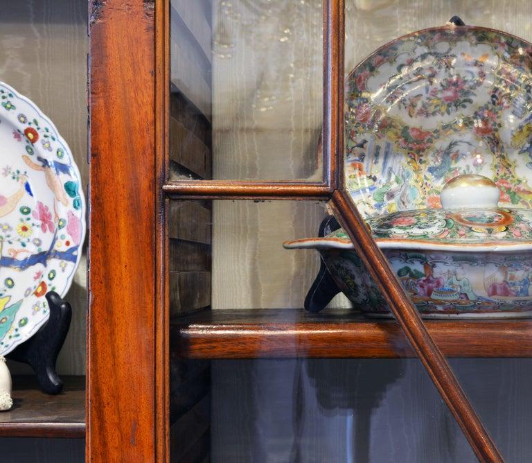 Noble Early 19th Century George III Mahogany Breakfront Secretary Bookcase 11