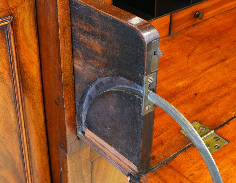 Noble Early 19th Century George III Mahogany Breakfront Secretary Bookcase 1