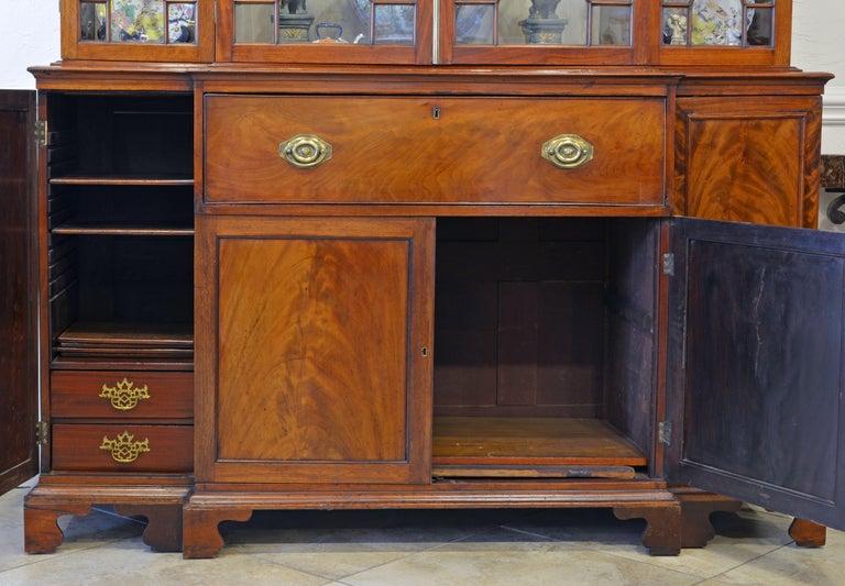 Noble Early 19th Century George III Mahogany Breakfront Secretary Bookcase 3