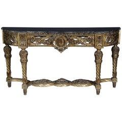 Noble Splendor Console, Sideboard Table in Louis XVI