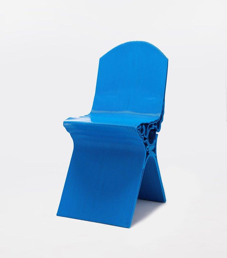 Spanish Nobu Chair in Blue by Manuel Jimenez Garcia for Nagami For Sale