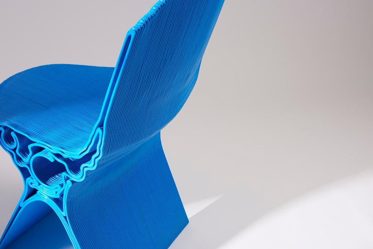 Machine-Made Nobu Chair in Blue by Manuel Jimenez Garcia for Nagami For Sale
