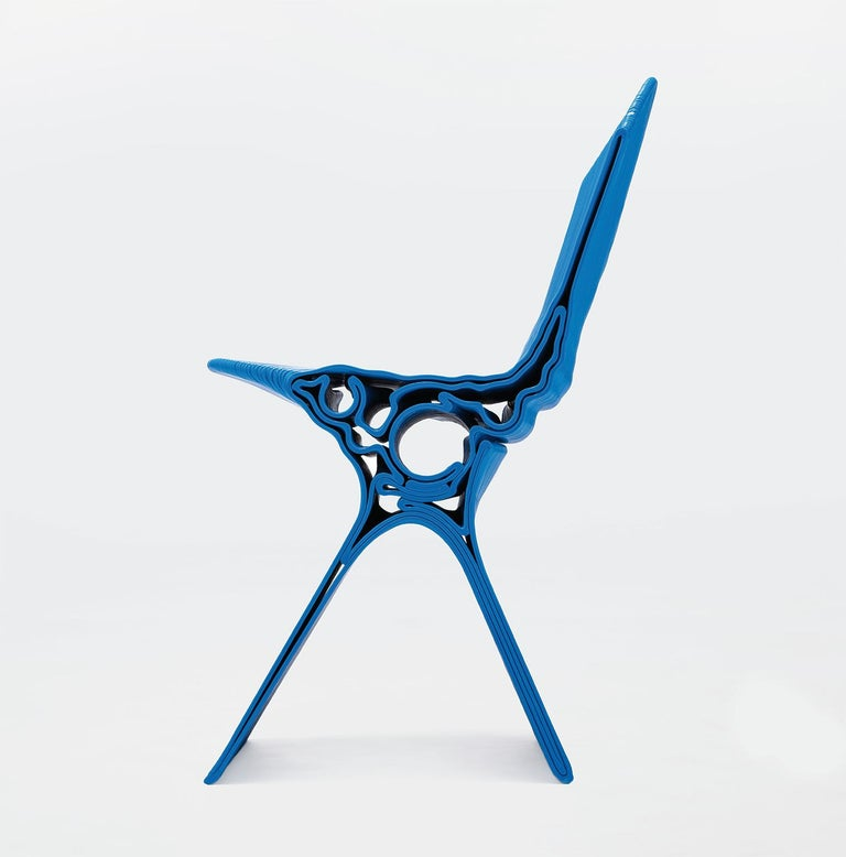 Nobu Chair in Blue by Manuel Jimenez Garcia for Nagami In New Condition For Sale In Avila, ES