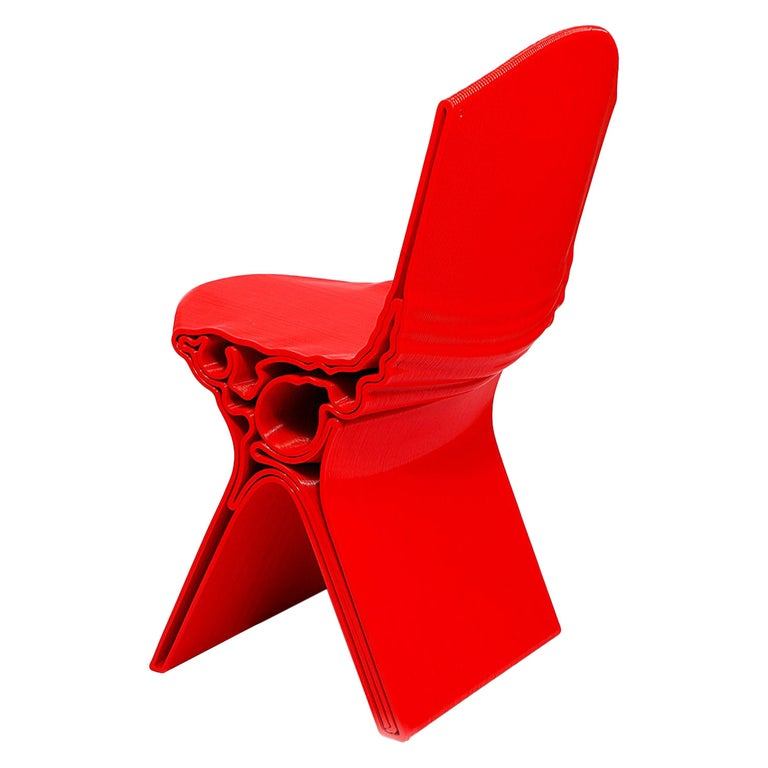 Nobu Chair in Red by Manuel Jimenez Garcia for Nagami For Sale