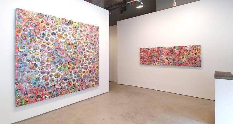 Beautiful Room - Brown Abstract Painting by Nobu Fukui