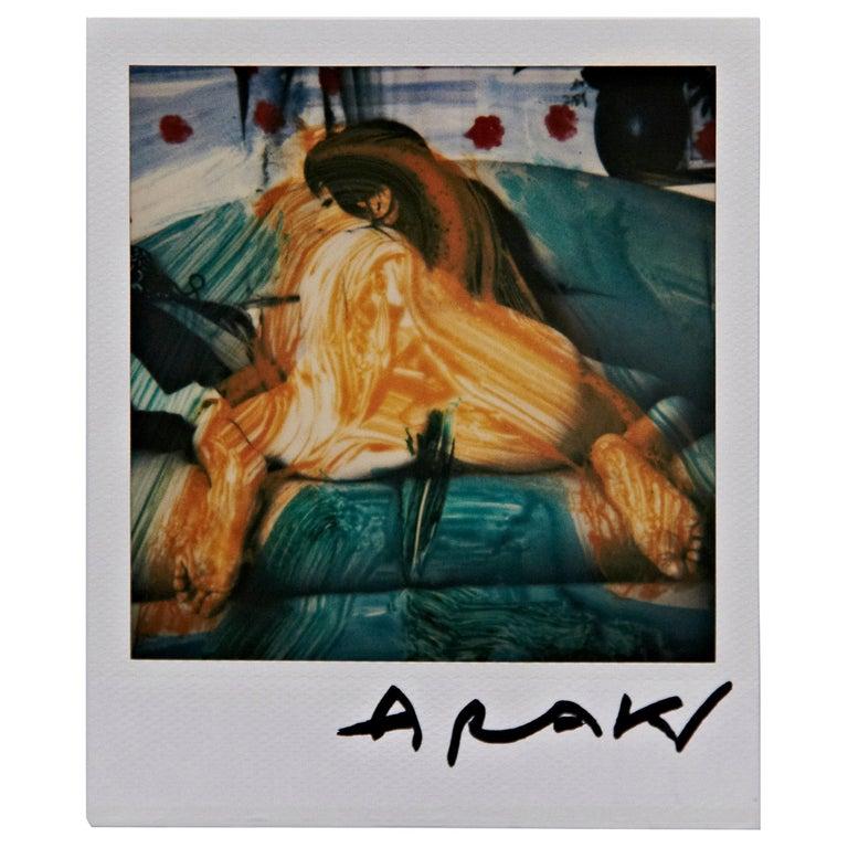 Nobuyoshi Araki Woman Polaroid Signed For Sale